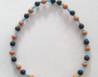 Wonderful Blue, Brown, and Beige Bracelet.