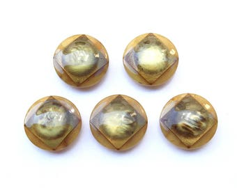 5 large buttons 28 mm