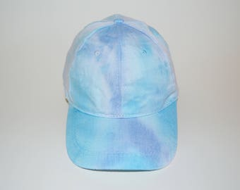 Arctic - Blue and Turquoise Tie-Dye Baseball Cap