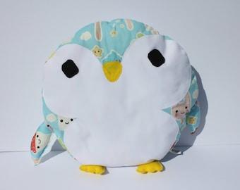 Penguin Cushion With Ice Cream Cones