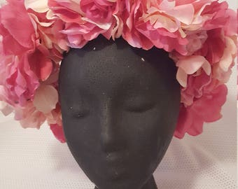 bright and light pink flower crown