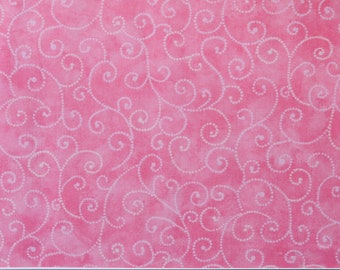 "Moda Basics ""MARBLE SWIRLS""  ~ 9908-18 Pink Sherbet ~ Tonal Pink with Swirls ~ Half Yard Increments"