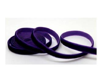 Purple velvet Ribbon 6 mm wide, 2 meters