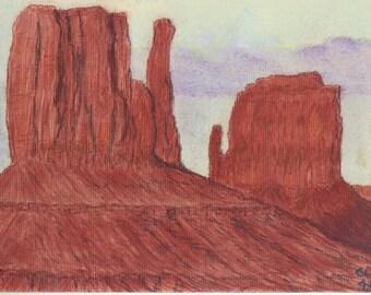 Monument Valley AZ soft pastel
