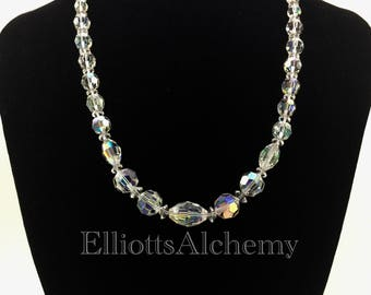 Vintage aurora borealis necklace