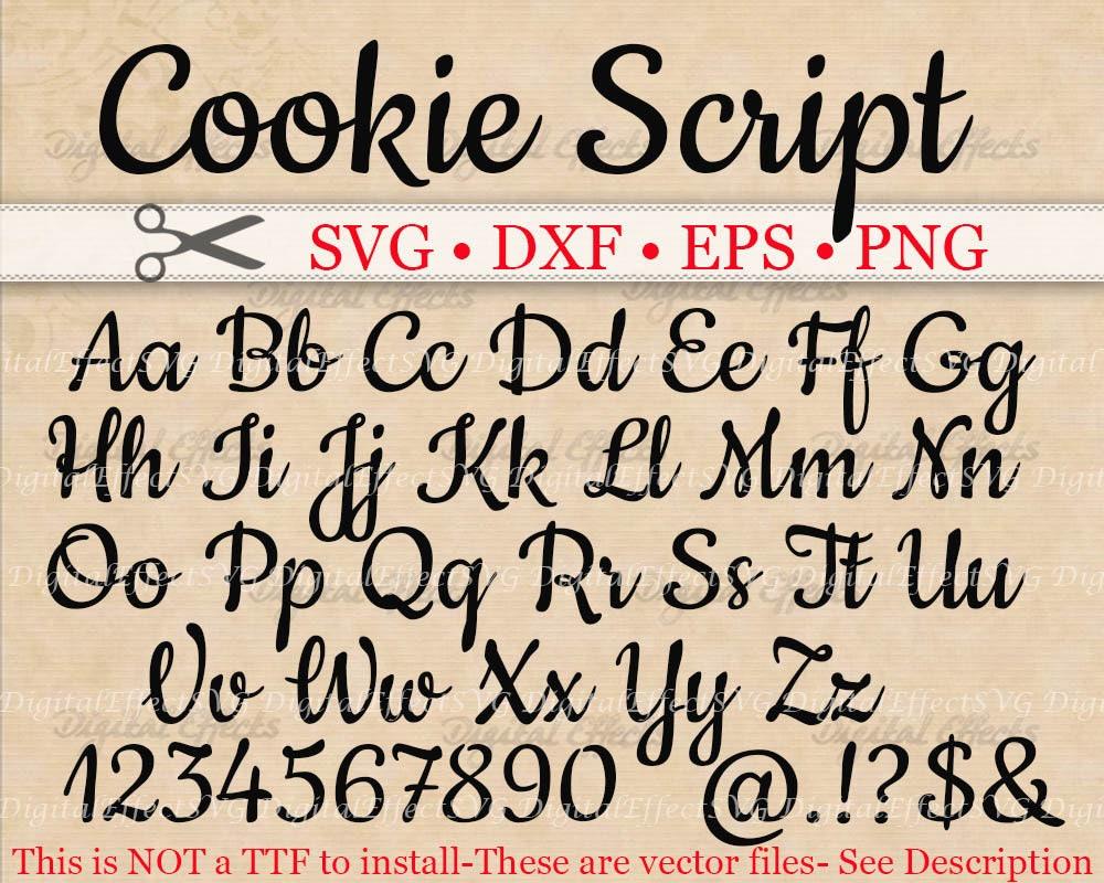 Download COOKIE Script SVG, Handwriting Font, Retro Script Monogram ...