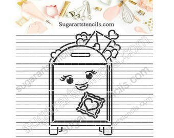 Valentine's day PYO cookie stencil mail box love letters ST00228