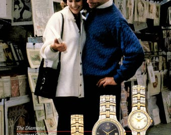 1996 Citizen watches decor vintage magazine ad  wall decor 1707