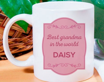 Best Grandma In The World A Finicky Gift Of Personalized  Mug