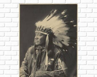 ON SALE Painted Horse - Sioux - Frank Rinehart - 1899 - Photo - Print - Photography - Vintage - Native American - Photograph - Antique - His