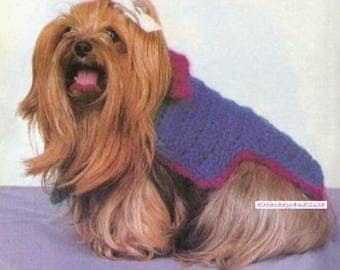 Small Dog Coat, Crochet Pattern. PDF Instant Download.