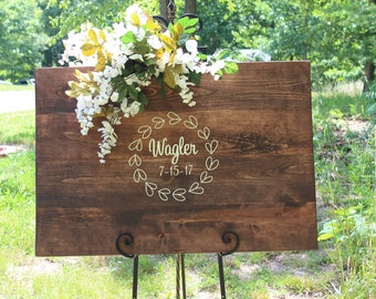 Wedding Sign - Wedding Guestbook Sign - Wedding Gift - Anniversary Gift