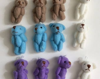 for keychain or another mini bear 3 cm new 12