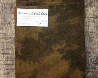 Hand-dyed Wool Fat Quarter -- Chocolate -- FQ517