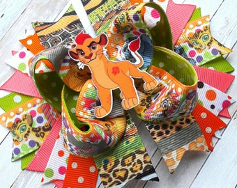The Lion Guard Hair Bow Boutique Stacked Hair Bow The Lion King Hair Bow Lion Guard Birthday Lion Guard Party Simba Hair Bow Jungle Hair Bow