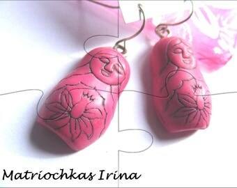 Earrings # dolls Matriochkas # unique # Parma # purple # gift # # child girl