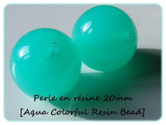 Pearl resin bright 20mm x 1 [Aqua Colorful]