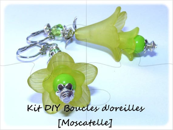 """""""DIY"""" Kit earrings to make yourself [muscatel]"""