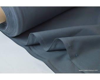 Tissu demi natté coton grande largeur gris anthracite