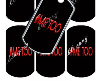 7 #Me Too Dog Tags Images Photo Quality 4x6 Sheet Digtal Download Printable Super Hero Necklaces, Key Chains