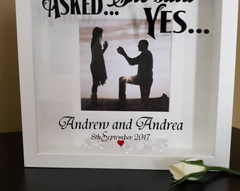 Personalised Engagement Frame                     He asked   She said Yes
