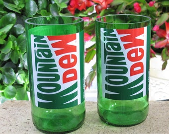 cool things mountain dew table glasses colored glasses cool glass gift glassware cool valentines gift idea for unique xmas presents idea