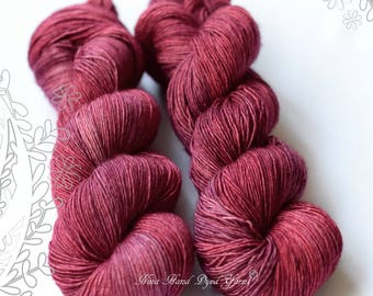 SILK MELODY - Rose Tea - hand dyed, extra fine merino and mulberry silk yarn, for knitting or crochet, singles
