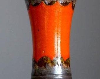Vintage 60-70's U KERAMIK Übelacker 556/18 Vase West German Pottery Fat Lava Era