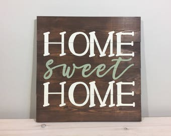 Home Sweet Home Wood Sign, Rustic Sign, Farmhouse Sign, Wood Sign, Inspirational Decor READY TO SHIP