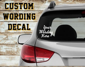 Custom Window Decal Etsy - Custom car decals near me   how to personalize