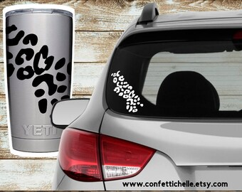 Cheetah Leopard Print Vinyl Strip | Yeti Decal Sticker | Car Decal | Corkcicle Rtic | Gift | 30 Colors