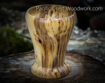 """Maple wood Tall wood Vase 5"""" Tall x 3.5"""" at the top"""