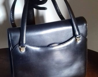 Vintage Black leather handbag