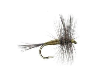 Blue Winged Olive - BWO - Classic Dry Fly - Hook Size 18 - Hand-Tied Fly Fishing Trout Flies