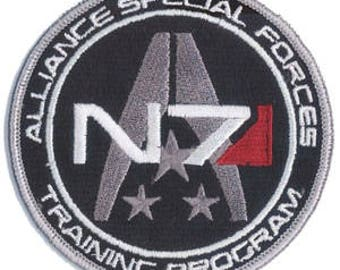 N7 Mass Effect patch Alliance Special Forces Training Program - iron-on 3 inch patch
