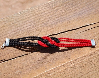 Bracelet original sailor red and black