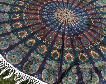Dorm Room Tapestry. Graduation Gift. Indian Mandala Tapestry. Summer Table  Cloth. Beach Part 61