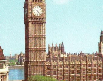 Vintage Big Ben in London, England. Unused Post Card. 1980s