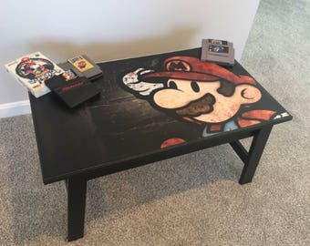 Nintendo Super Mario Video Game Kids Coffee Table