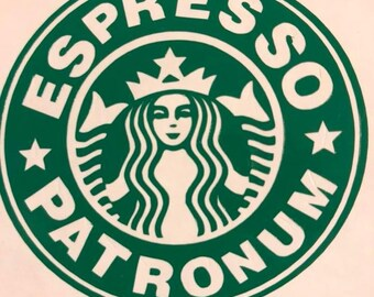 Espresso Patronum Decal/ Harry Potter Coffee/ Coffee Mug/ Tumbler/ Starbucks