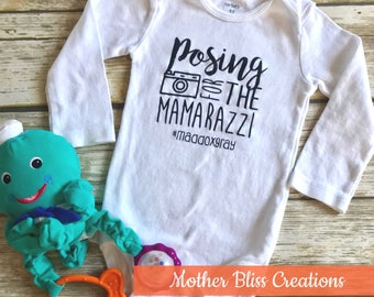 """Handmade, Personalized """"Posing For The Mamarazzi"""" 