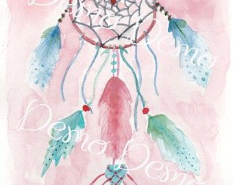 Dreamcatcher Attrape reves rosy