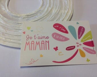 "Mini Card ""I love you MOM"""