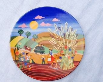 Poole pottery plate 'summer'