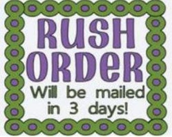 Rush Order LIMITED Quantities available, order will be mailed in 3 business days