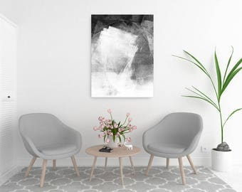 Black and White Prints, Modern Minimalist Art, Abstract Print, Scandinavian Art, Abstract Painting, Oversized Wall Art, Large Canvas Art