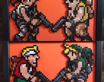 Tarma Roving With Fio Germi and/or Marco Rossi With Eri Kasamoto- Metal Slug- Pixel Art A4 Bead Picture- Available Individually or Set of 2