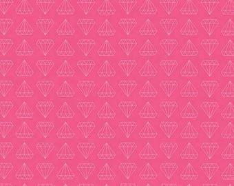 Shine Diamond Pink In Knit by Simple Simon & Co for Riley Blake cotton spandex lycra, diamond, jersey 4way stretch K6662R-PINK