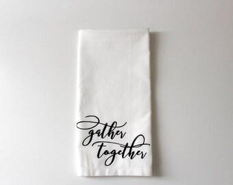 Gather Together Napkins, holiday napkins, napkins, table napkins, kitchen napkins, cloth napkins, decor, kitchen decor, kitchen linens