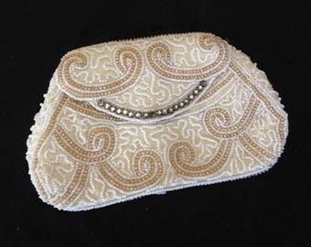 Vintage Beaded Evening Bag with Rhinestones